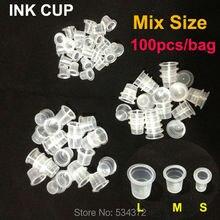 100pcs Mix Size (L/M/S) Tattoo Accessories Makeup Tattoo Ink Cups