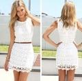 Frete Grátis Nova 2015 Mulheres High Street Lace Festa Completa Vestido Novidade Vestidos 927A 21