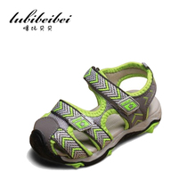 LuBiBeiBei brand 2017 summer beach kids shoes closed toe sandals for boys and girls designer toddler sandals for 4 — 15 years