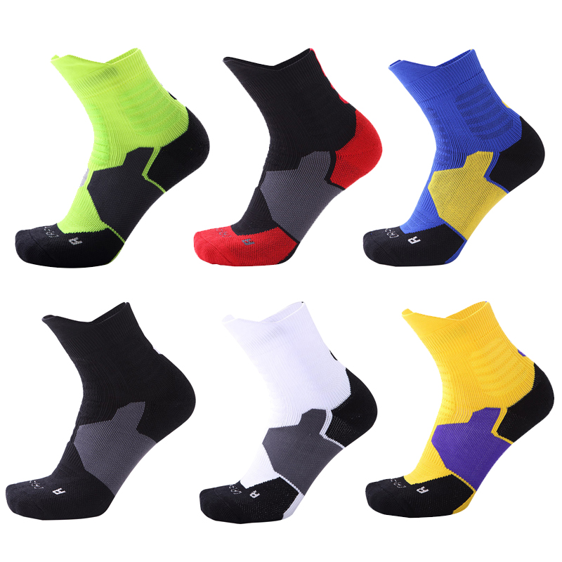 Thickened Sports Socks Breathable Sweat Absorbing Deodorant Outdoor Running Basketball Sports Socks For Men & Women