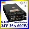 LED Power Supply 24V 25A 100 120V 200 240V AC Input Single Output Switching Power Supply