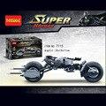 Decool 7115 DC Superheroes Batman Batmobile Del BAT-POD 338 Unids Modelo de Bloques de Construcción de Juguete Mejor Regalo de Los Niños Juguetes