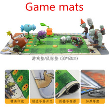 [Hot] 28 styles new game plants vs. zombies toy for children pvc figure model toys anime pea sunflower at 10 cm Game mats