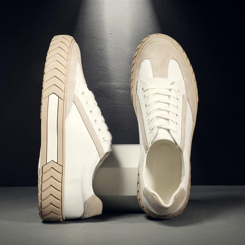 Véritable cuir de vache hommes baskets de luxe de haute qualité confortable mode décontracté chaussures pour hommes adultes # MP9269-1