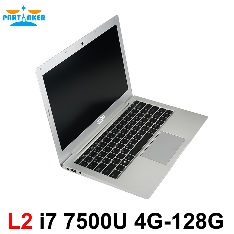 Partaker L2 Windows 10 Laptop Computer Notebook PC Ultraslim Computer With 13.3 Inch Core I7 7500U Backlit Keyboard 1920*1080