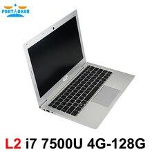Причастником L2 Окна 10 ноутбук Тетрадь PC Ультратонкий компьютер с 13.3 дюймов core I7 7500U клавиатура с подсветкой 1920*1080