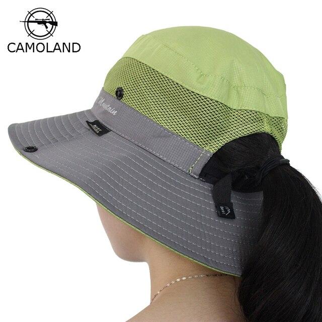 0e9c9dca982 Waterproof Bucket Hat Summer Men Women Sun Hat Fishing Boonie Hat UV  Protection Wide Brim Bob