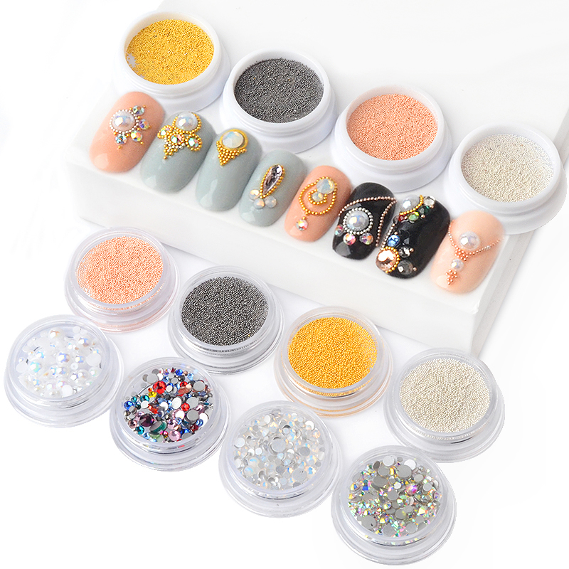 Detail Feedback Questions about 1box Metal Caviar Beads Nail Art  Decorations Strass Opal Rhinestones Mix Size 3d Manicure UV Gel Polish  Accessory New Design ... 496bd086efb6