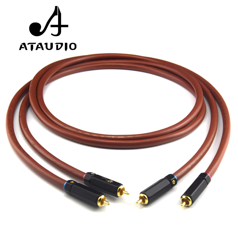 ATAUDIO Hifi Rca Cable 6N OFC VDH 2 Male to 2 Male RCA Stereo Audio Cable (1M(3.28ft))