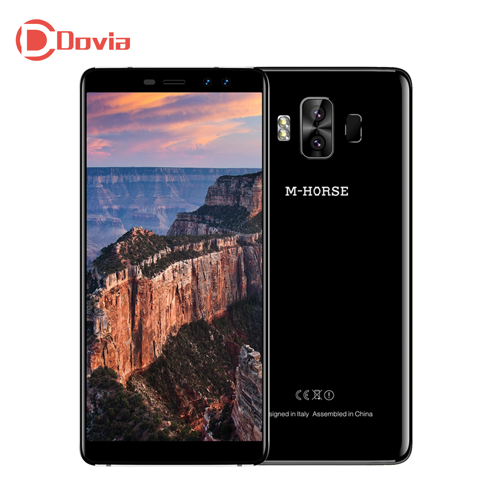 M-HORSE puro 1 4G Smartphone 5,7 pulgadas Android Quad Core 3 GB 32 GB teléfono móvil Dual cámaras traseras escáner de huellas dactilares teléfono táctil