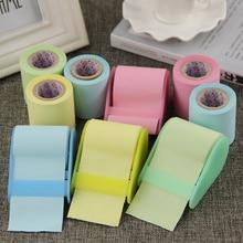 1 PC Tape Dispenser Formula Fluorescent Paper Sticker Memo Pad Sticky Notes Post It Kawaii Korea Stationery Can Tear Memo Pad