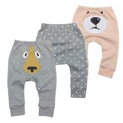 2018 Infantil/штаны для новорожденных мальчиков и девочек, повседневные штаны-шаровары унисекс, штаны с рисунком лисы, 6 м.-24 м.