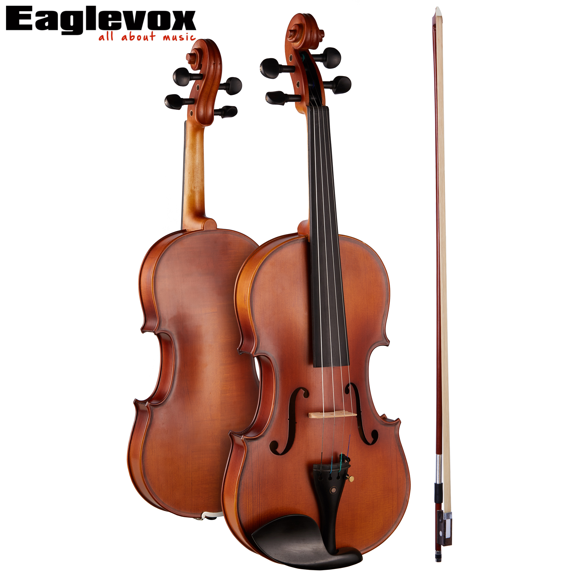 4/4 Professional Violin with Hard Case Pinus Bungeana Top Maple Back and Sides transparent 4 4 violin led light send violin hard case electric violin with colorful power lines and violin parts for lover