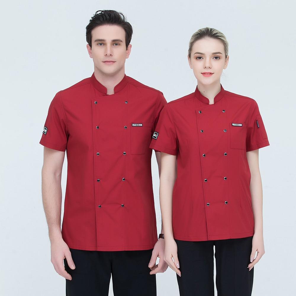 High Quality Black Short Sleeve Restaurant Chef Jacket
