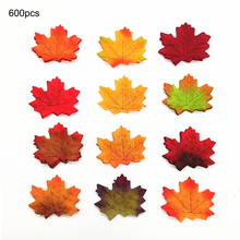 600pcs Simulation Scrapbooking Fake Flower Vivid Artificial Silk Maple Leaves For Home Wedding Party Decoration Accessories