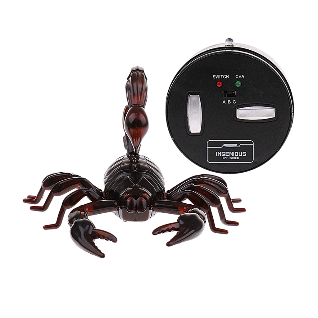Trick Electronic Pet RC Simulation Scorpion Robotic Insect Prank Toy Beetle Remote Control Infrared Smart Animal Model Kids Gift