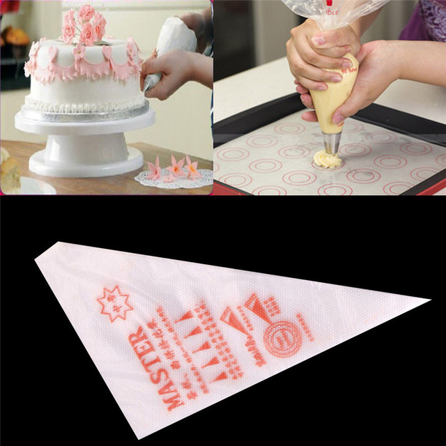 New Arrival 100 Pcs Practical Piping Bag Plastic Disposable Piping Cake  Cream Decorating Wholesale Free Shipping 30RI24-in Dessert Decorators from  ...