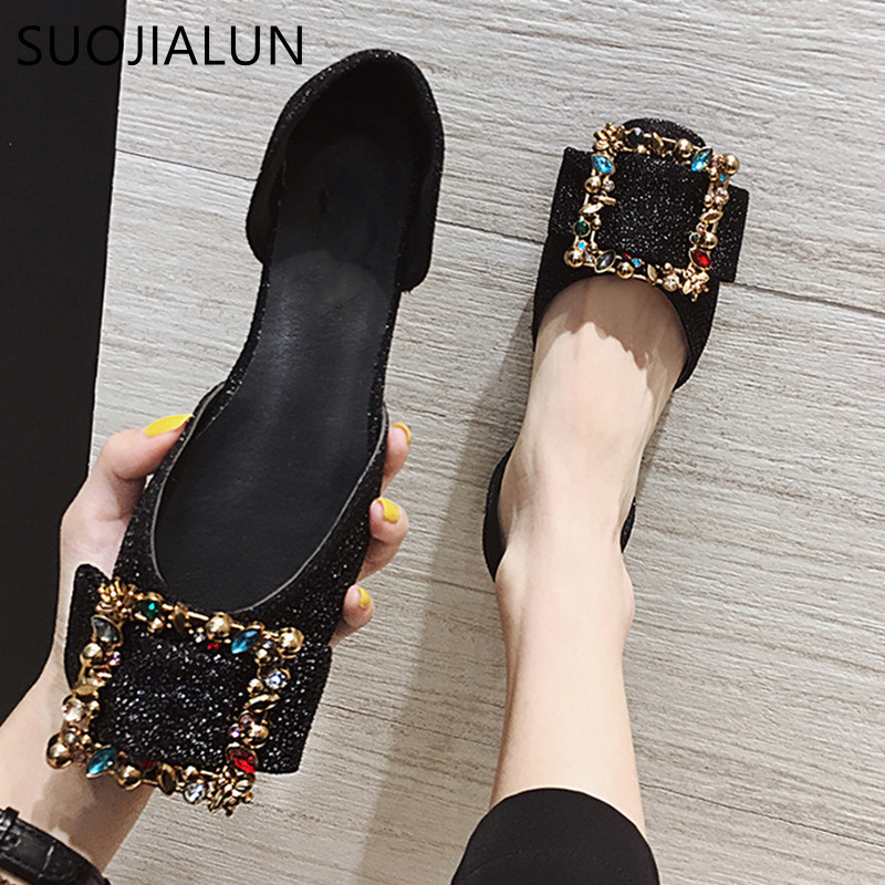 SUOJIALUN 2018 New Arrival Women Flats Shoes Shallow Flat Fashion Autumn Women Shoes Loafers Casual Soft Flat Zapatos MujerSUOJIALUN 2018 New Arrival Women Flats Shoes Shallow Flat Fashion Autumn Women Shoes Loafers Casual Soft Flat Zapatos Mujer