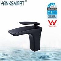 Watermark Certification Black Basin Faucet Bathroom ORB White Chrome Mixer Tapsbrass Basin Faucetsingle Handel Bathroom Faucet
