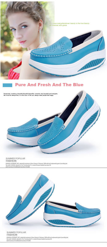 New Womens Shake Shoes Lady Genuine Leather shoes (25)