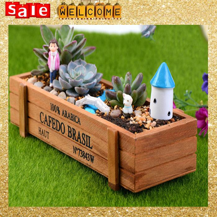 xx cm vintage macetas y jardineras de madera mini plantas suculentas