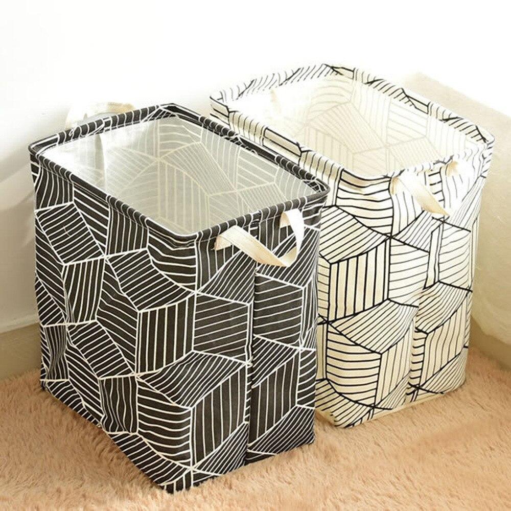 Natural Juten Waterproof PE Coating Storage Basket Sundries Storage Box Coating Sundries Toy Basket Storage Folding Box