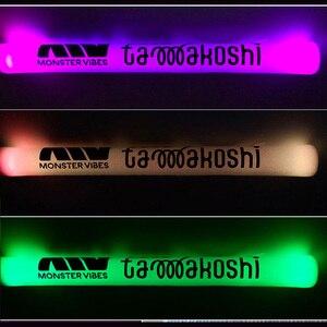 Image 3 - 100PCS Multi color Customized DIY Logo Foam Sticks LED Glow Stick Baton Wands
