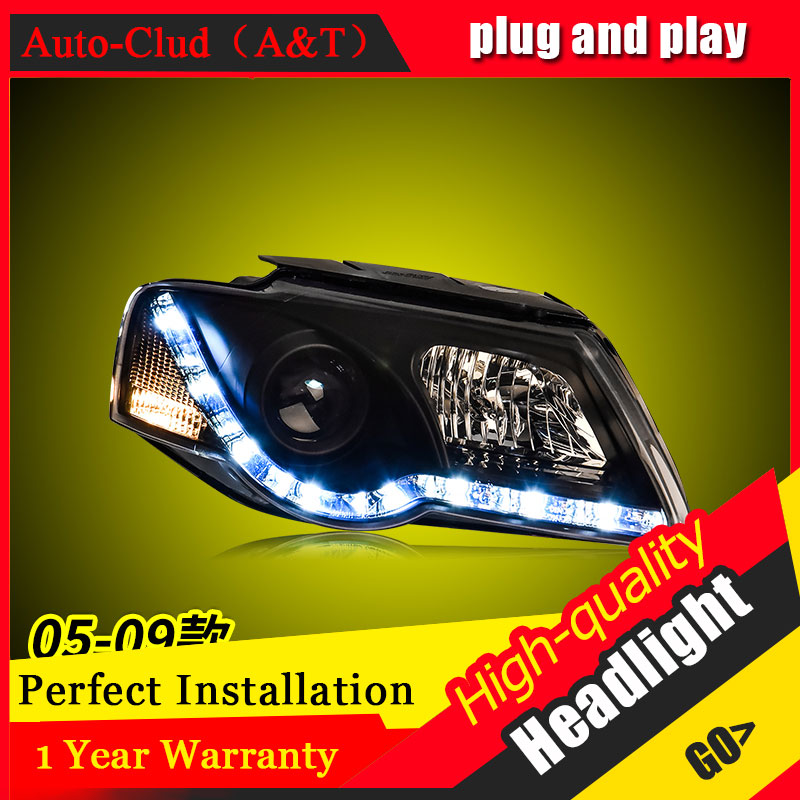 Auto Clud Car Styling For VW Passat headlights 2005-2009 For Passat head lamp led DRL front Bi-Xenon Lens Double Beam HID KIT