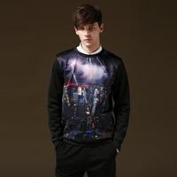 3D Lightning Printed Men Pullover Brand Casual Men S Hoodie Sweatshirt Harajuku O Neck Fitness Casual