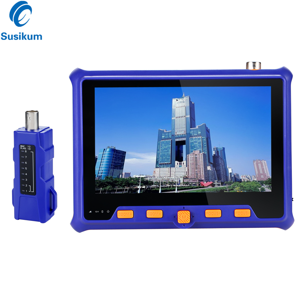 5MP 2MP CCTV Tester 5INCH TFT LCD TVI AHD CVI CVBS Analog 4IN1 Security Camera Tester Monitor VGA Output UTP Cable Test