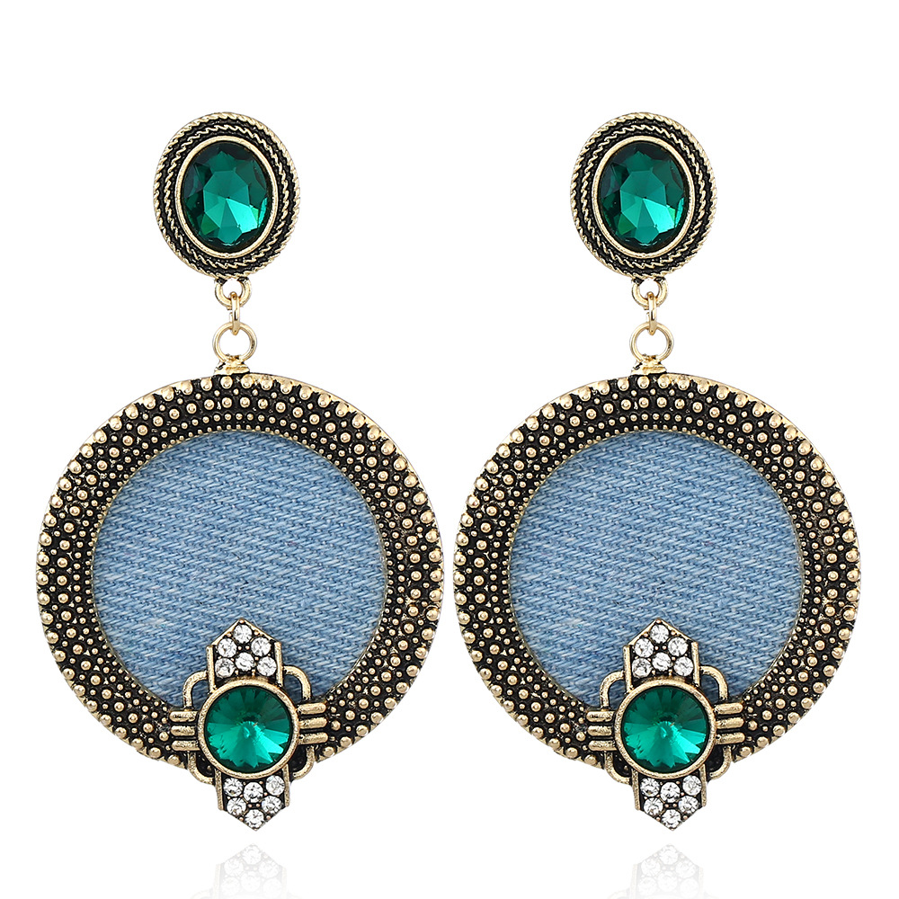 Denim earrings 24
