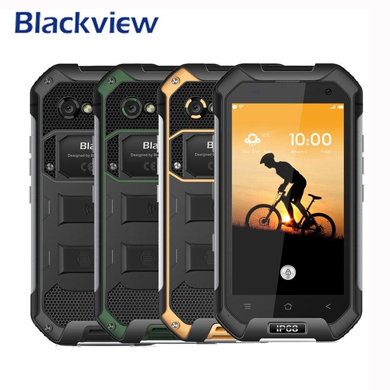 Blackview bv6000 mt6755 octa-core 4g teléfonos celulares a prueba de teléfono mó