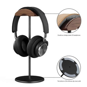 Image 2 - JINSERTA Soporte Universal para auriculares, colgador de madera y aluminio para escritorio