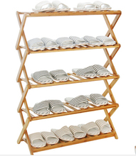 Shoe Hanger Bamboo Shoe Hanger flower shelf rack ground solid wood balcony flowerpot rack shelf