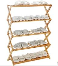 Shoe Hanger Bamboo Shoe Hanger flower shelf rack ground solid wood balcony flowerpot rack shelf