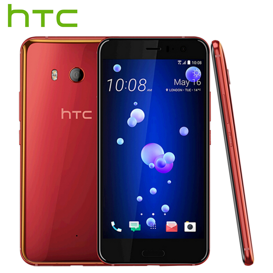 Original HTC U11 4G LTE Mobile Phone Snapdragon 835 Octa Core IP67 Waterproof 6GB RAM 128GB ROM5.5 inch 2560x1440p 3000mAh Phone