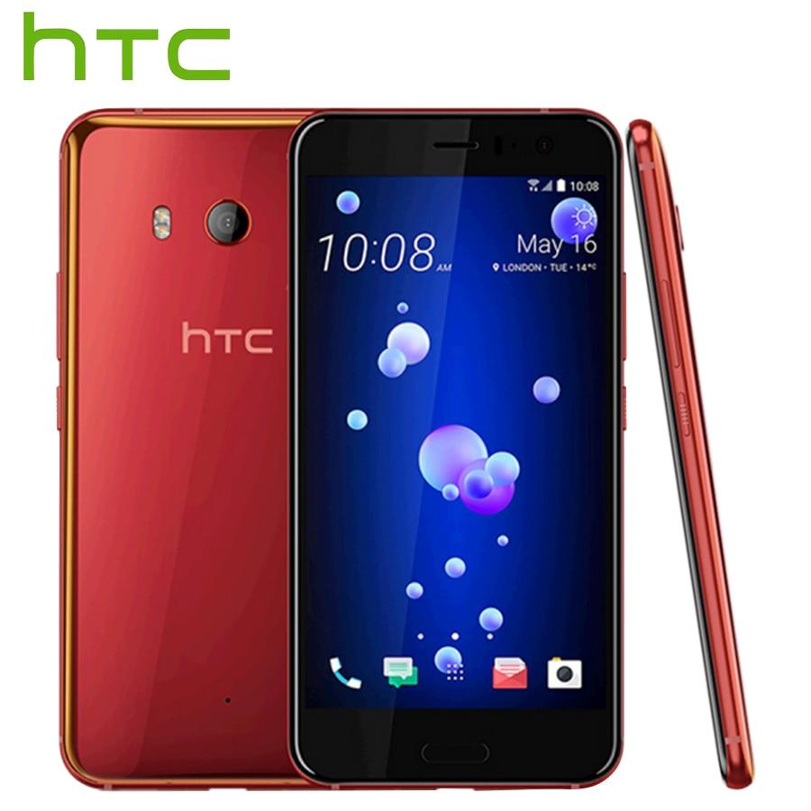 Original HTC U11 4G LTE Mobile Phone Snapdragon 835 Octa Core IP67 Waterproof 6GB RAM 128GB ROM5.5 inch 2560x1440p 3000mAh Phone
