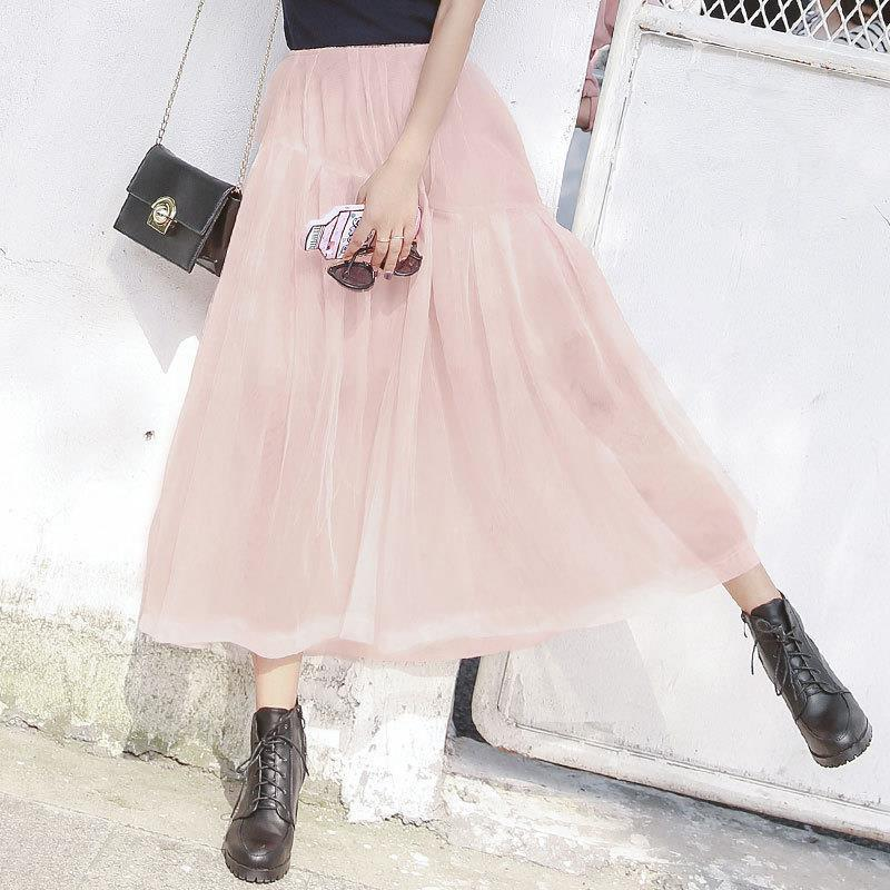 Rok Style Jupe De Couro Coréen A Printemps Model Longo Vêtements Mujer model B Faldas 2018 Saia Harajuku Femme Femmes Rave Moda Ropa Haute Longue Taille TrrnPqvR