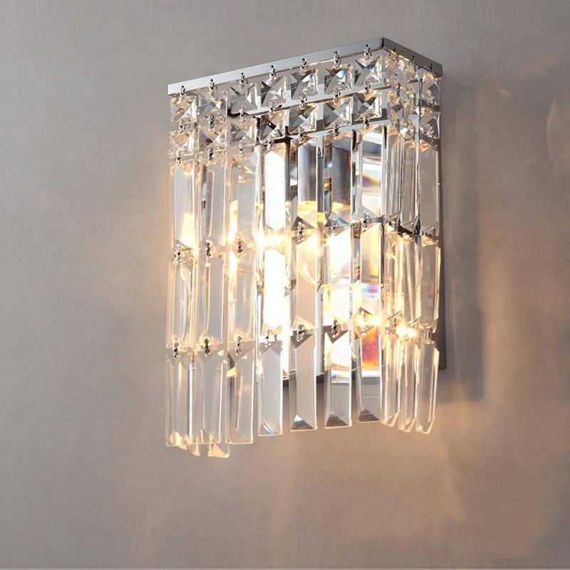 램프 크리스탈 led 현대 벽 거울 램프 욕실 럭셔리 메이크업 마운트 빛 applique liseuse led 크리스탈 벽 sconce 침실-에서벽걸이 조명등.부터 등 & 조명 의 Hope lighting factory