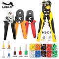 Crimping stripping cutting pliers kit 10S/6-4/6-6 with tubular terminals 260pcs/box electrical crimping tool clamp set HSC8