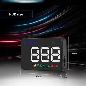 Image 4 - Universal Car HUD GPS Tachimetro Speedo Head Up Display A5 Digitale Su Allarme di Velocità Parabrezza Projetor Auto di Navigazione