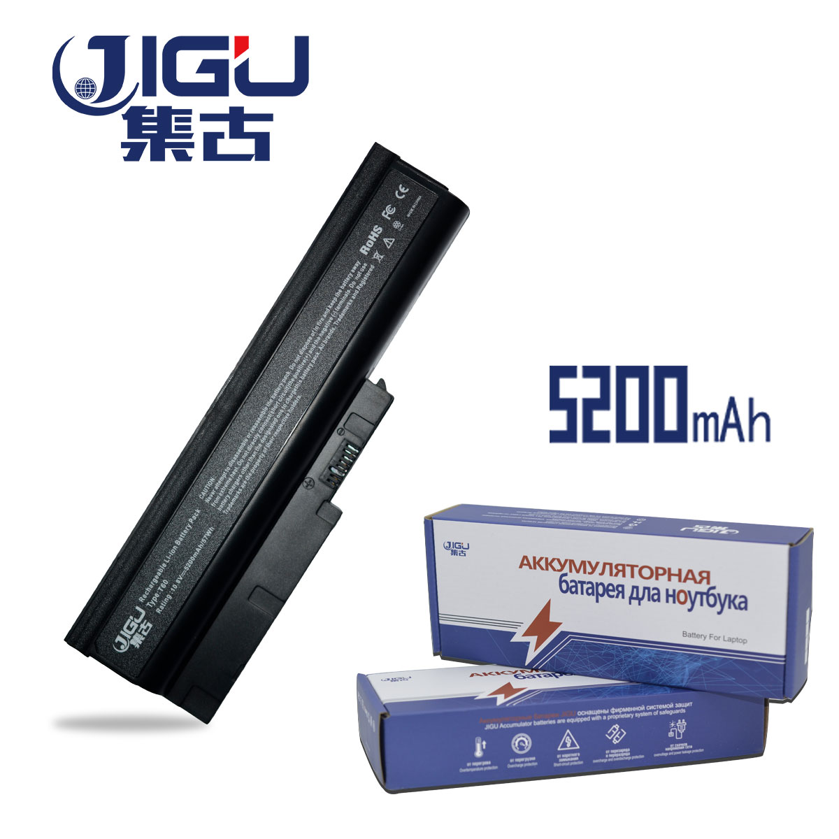 Laptop Accessories Imported From Abroad Jigu 6cells 40y6799 Fru 42t5233 92p1137 Laptop Battery For Lenovo/ Ibm For Thinkpad R61 R61e R61i T60 T60p T61 T61p
