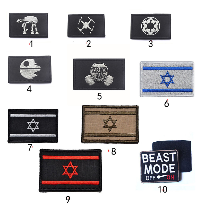 Multi-Types Embroidered Flag Tactical Army Morale Military Hooking Swat Badges Замок