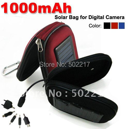 DHL Free Shipping 1000mAh Portable Solar Power Mobile Charger Case For Cell Phone Digital Camera MP3/MP4 PDA 10PCS/LOT
