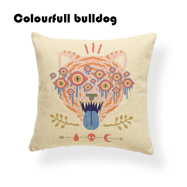 Cartton Ethnic Pattern Pillow Cushion Cover Arrow Water Droplets Rabbit Bedroom Decor Throw Cushions Gecko Mushroom Pillowcases Cushion Cover Aliexpress