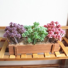 Cute Mini cactus bonsai landscape artificial fleshiness Cactus plant decorative flowers for table decor succulents plants