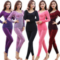 High Quality Women Winter Thermal Underwears New Slim Body Shaped Warm Long  Seamless Antibacterial Underwear Sets  BL141