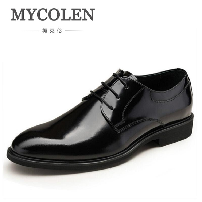 MYCOLEN Designer Luxury Brand Wedding Shoes Man Patent Leather Black Oxford Shoes For Men Formal Mariage Mens Dress Shoes pointed toe dress shoes mens patent leather black shoes wedding dress oxford shoes for men designer version luxury prom shoes