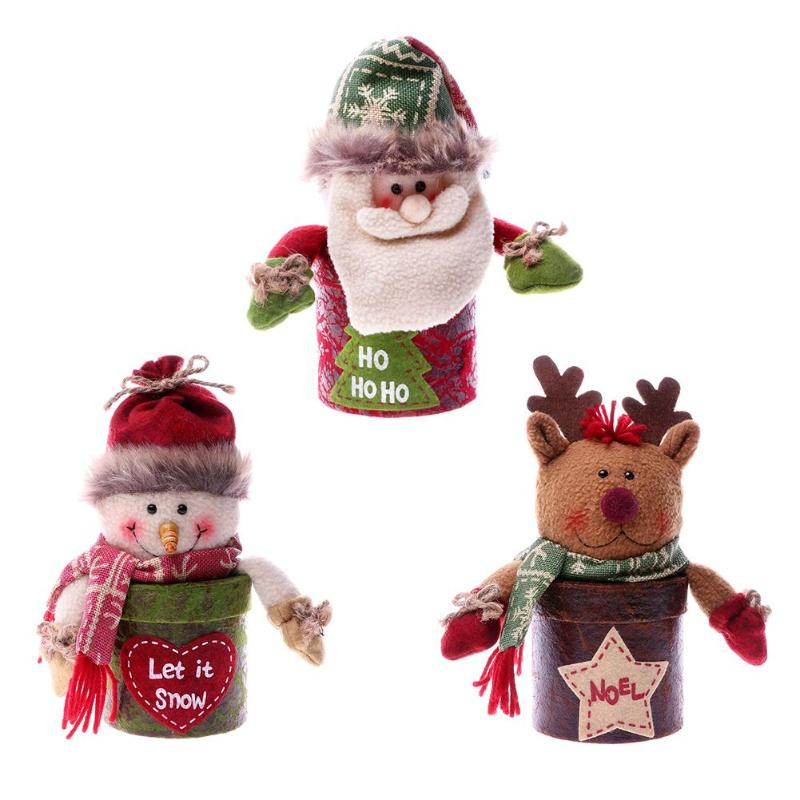 Christmas Gift Box Santa Claus Kids Santa Claus Snowman