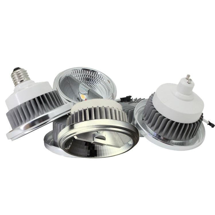 Купить с кэшбэком Dimmable LED AR111 lamp 12w 15w GU10 led AR111 reflector downlight QR111 ES111 LED spotlight AC85-265V Free shipping